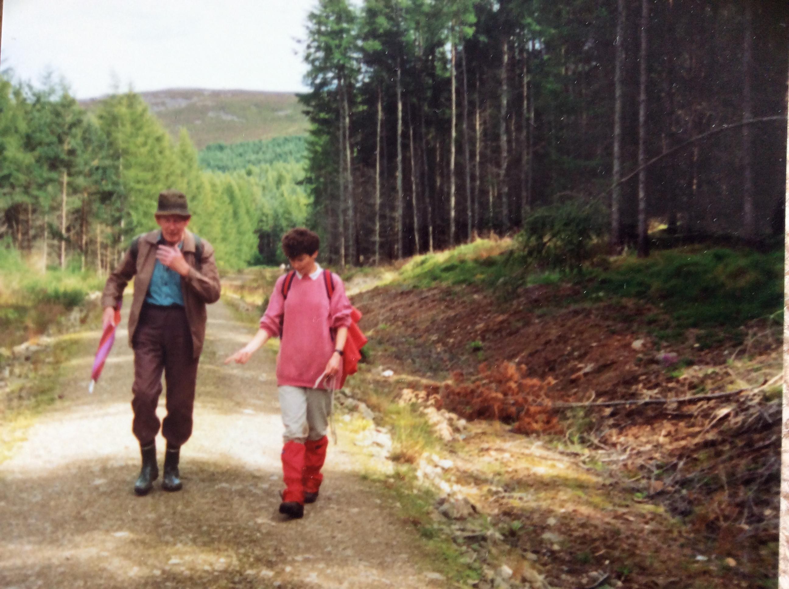 Linda Bain Walking on Bennachie