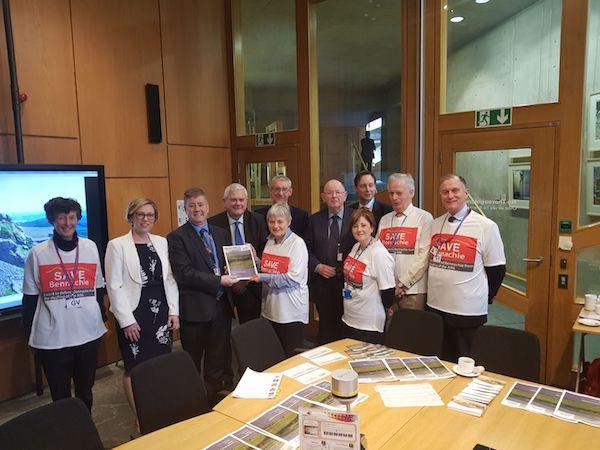 Save Bennachie Campaign Team at the Scottish Parliament